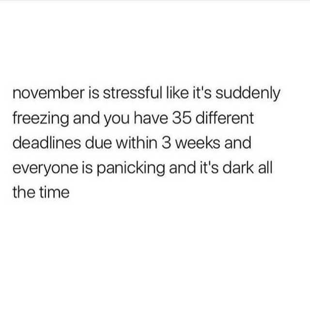 november-is-stressful-like-its-suddenly-freezing-and-you-have-35-different-deadlines-due-within-3-weeks-and-everyone-is-panicking-and-its-dark-all-the-time-VbOpu